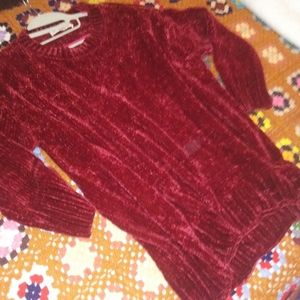 VelvetyfuZz Cozy Red Philosophy Sweater<3
